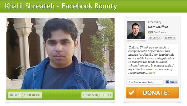 Khalil Shreateh Facebook Bounty